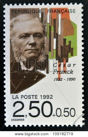 FRANCE - CIRCA 1992: A stamp printed in France shows Cesar Franck circa 1992
