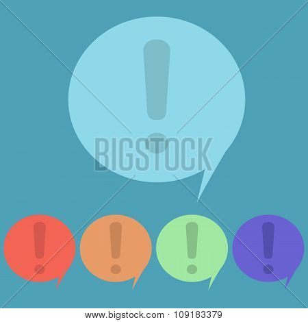 Exclamation Mark Button, Speech, Attention, Vector Icon