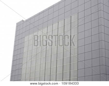 Outer Wall Of Modern Building Over White