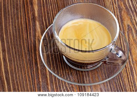 Transparent Cup With Espresso