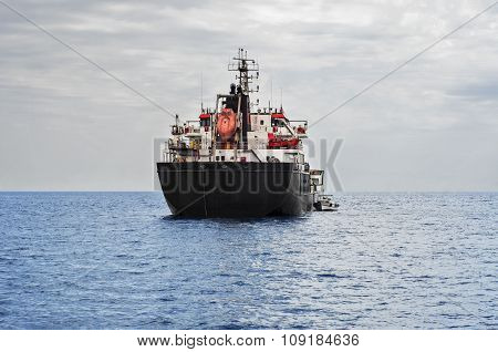 Oil Tanker Ship In The Sea