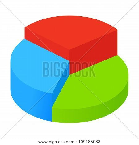 Isometric pie chart icon