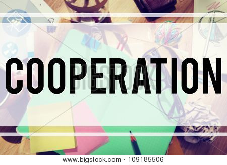 Cooperation Partnership Teamwork Connection Concept