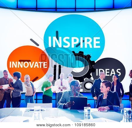 Inspire Ideas Innovate Imagination Inspiration Concept