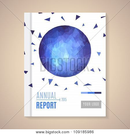 Annual Report Cover vector illustration