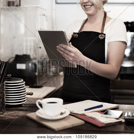 Barista Cafe Coffee Shop Owner Service Concept
