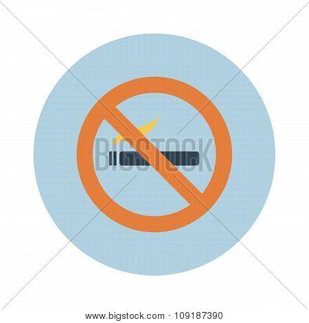 Sign, Icon Smokes Smoking, No Smoking, Sigreta. Vector.