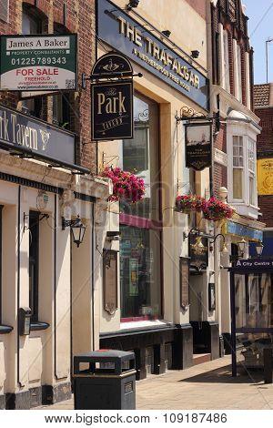 A street scene in portsmouth