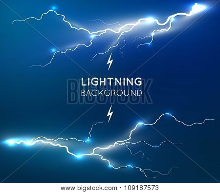 New lightning flash strike background