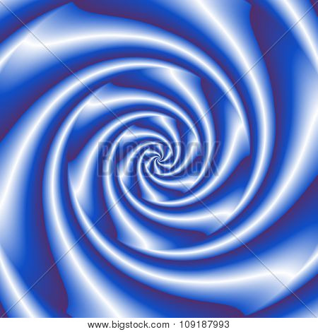 Abstract Spiral Background In Blue And White