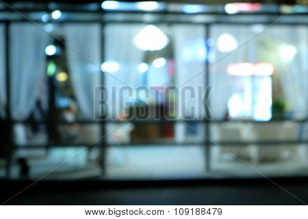 Blurred cafe's summer terrace