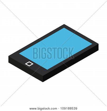 Isometric mobile phone icon