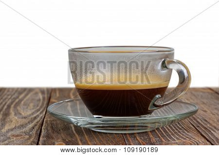 Transparent Glass Cup With Espresso
