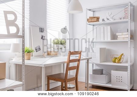 Study Room With Simple Chair