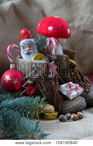 shoes full of sweets from Santa Claus