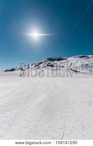 Winter mountains in Gusar region of Azerbaijan