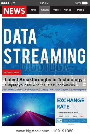 Data Streaming Transfer Connection Technology Networking Concept