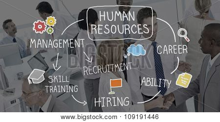 Human Resources Recruitment Employment Career Concept