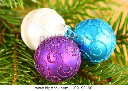 Christmas Ornaments Close Up