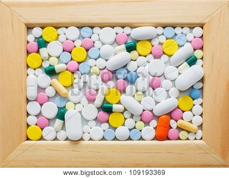 picture of different colored pills