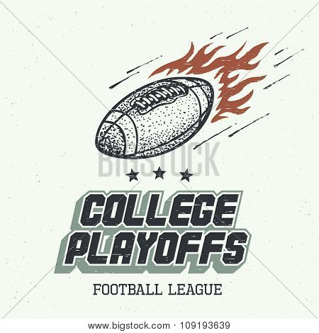 College Playoffs Hand-drawn Illustration