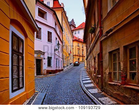 Old Streets In The City Of Prague