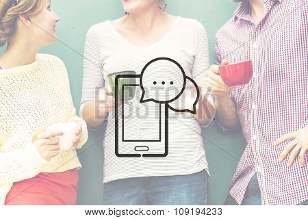 Digital Devices Internet Connection Communication Concept