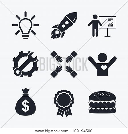 Presentation billboard. Dollar cash money.