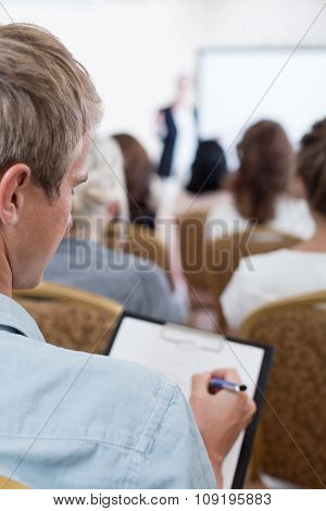 Taking Notes During Conference