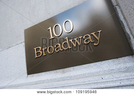Broadway street sign in New York