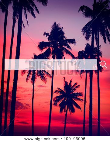 Tropical beach destination Scenics Nature Concept