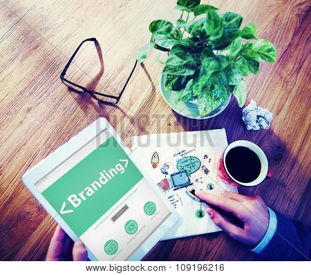 Online Product Branding Marketing Concept Business Concept