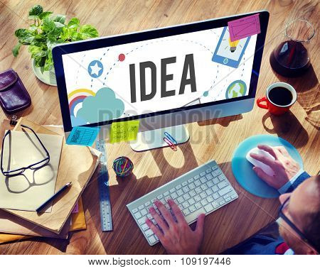 Idea Ideas Imagination Inspiration Objective Goals Concept
