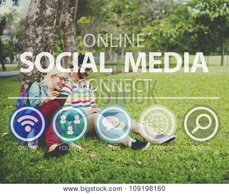 Online Social Media Networking Connnect Internet Concept