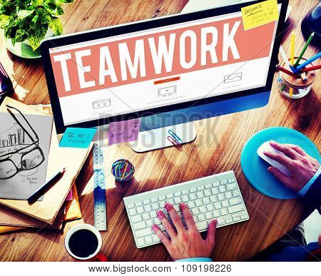 Teamwork Team Collaboration Togetherness Partnership Concept