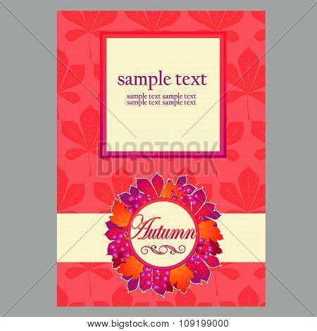 Card with wreath and space for text for your design needs