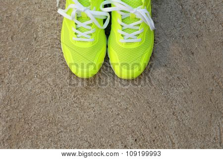 Pair Of Sport Shoes Outdoors