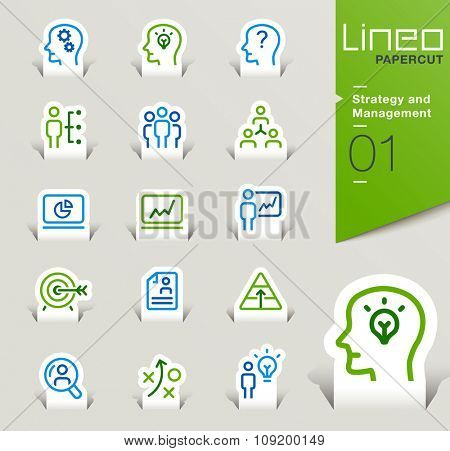 Lineo Papercut - Strategy and Management outline icons