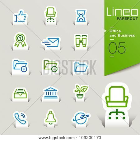 Lineo Papercut - Office and Business outline icons