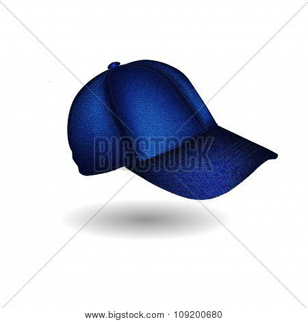 Image Of A Sports Headdress From A Jeans Fabric