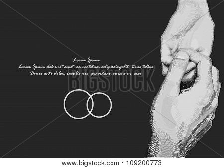Hands , A Gentle Handshake . Man And Woman