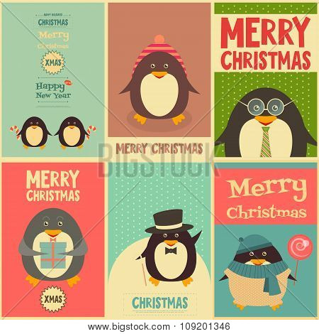 Merry Christmas Greetings With Penguins