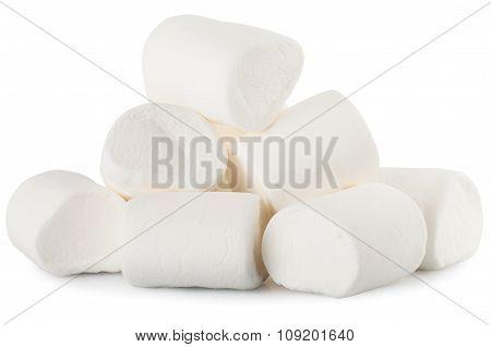 Heap Of Marshmallow Isolate