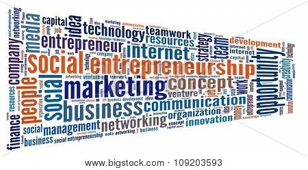 Social Entrepreneurship in word collage