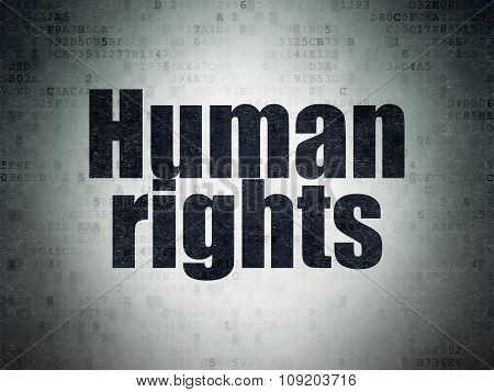 Politics concept: Human Rights on Digital Paper background