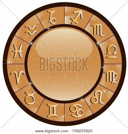 Gold Zodiac Circle