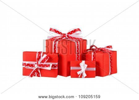 gift boxes with ribbon bows