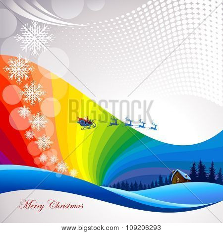 Decorative  Merry Christmas Illustration