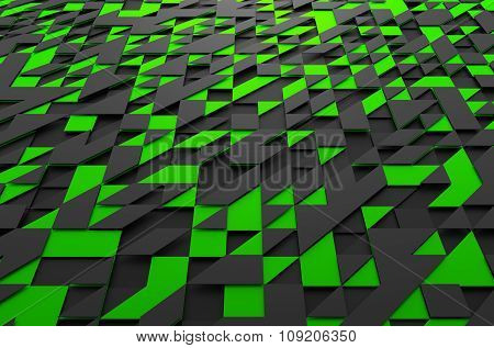 Rendering of Futuristic Surface with Triangles.