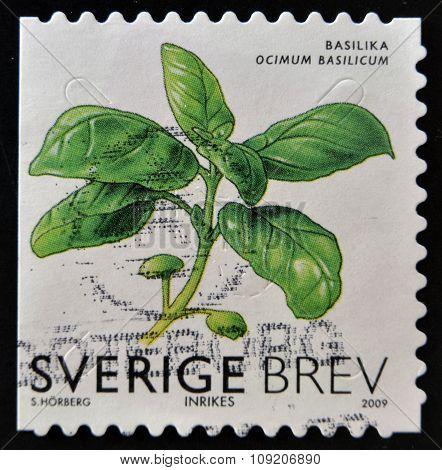 SWEDEN - CIRCA 2009: stamp printed in Sweden shows Basil circa 2009